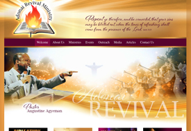 Adonai Revivial Church Web Design