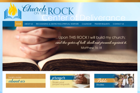 Church on the Rock web design