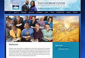 Faith Worship Center Church Website Design