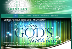 Greater Hope Community Church Website Design