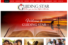 Guiding Star Church website design