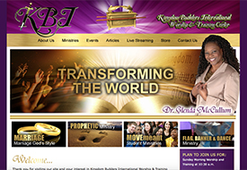 Kingdom Builders International church web design