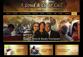 A Loud & Clear Call church website design