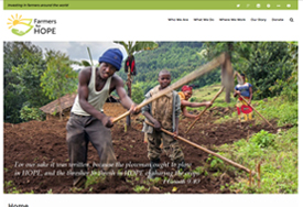 web design for non-profit Farmers for Hope