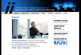 Influence International Non-Profit Web Design