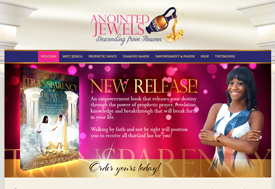 Christian Web Designer for Anointed Jewels Dance Ministry