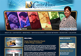 Center Peace Church Website Design