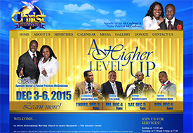 Christ International Ministries Church web design
