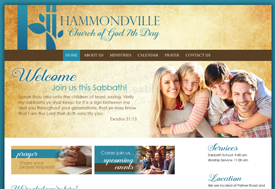 Hammondville Church web design
