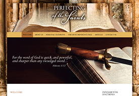 Perfecting of the Saints web design
