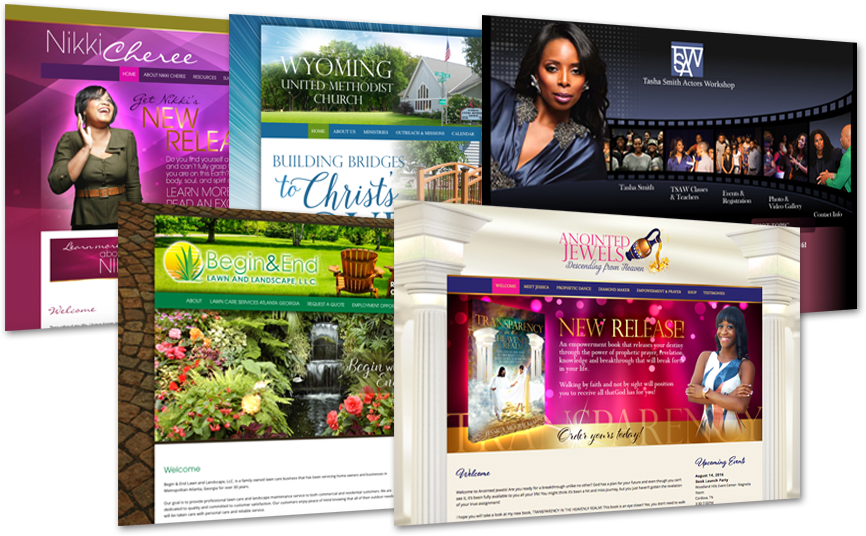 Christian Web Design churches ministries