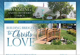 Wyoming United Methodist Church web design