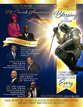 Church Anniversary Flyer Design