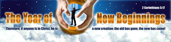 the year of new beginnings banner exodus christian web graphic design studio
