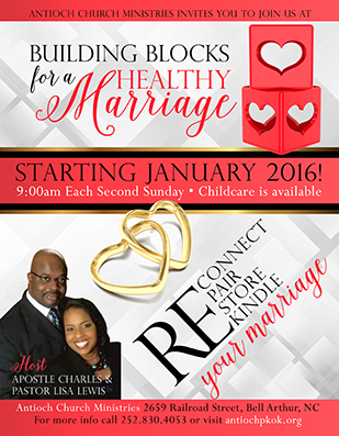 Marriage ministry flyer design