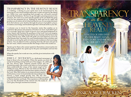 Transparency in the Heavenly Realm - Christian book cover design