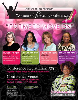 Christian women's conference flyer design