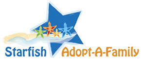 Starfish Adopt a Family Ministry Logo Design