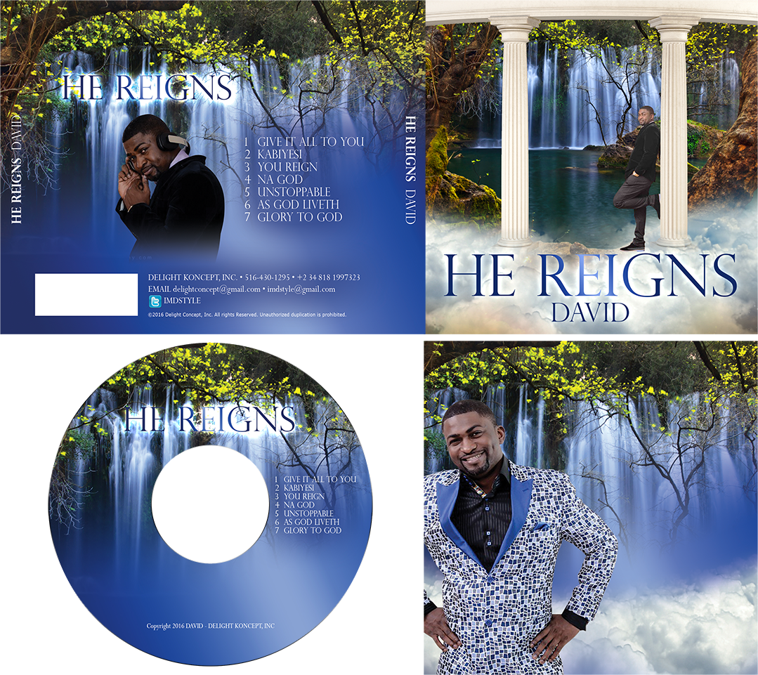 He Reigns CD Cover Design