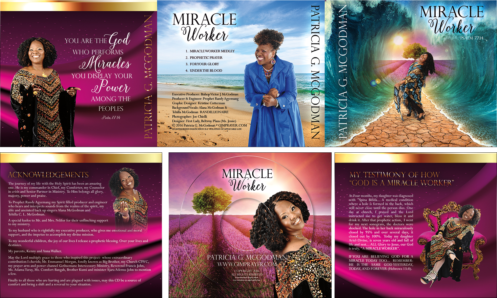 Miracle Worker CD Cover Design