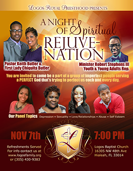 Flyer design for 1st church anniversary