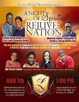Flyer design for 1st church anniversary